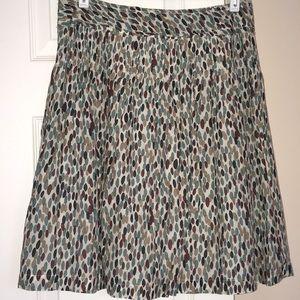 Banana Republic Multicolored silk skirt